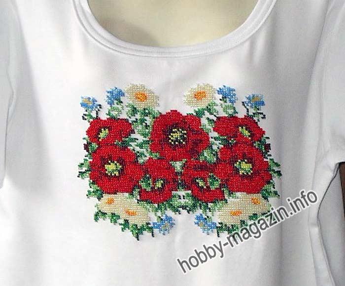 Вышивка бисером на футболке мастер класс 94