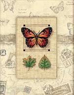 Бабочка и листья