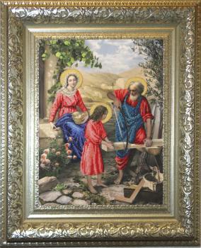 Святое семейство вышивка бисером