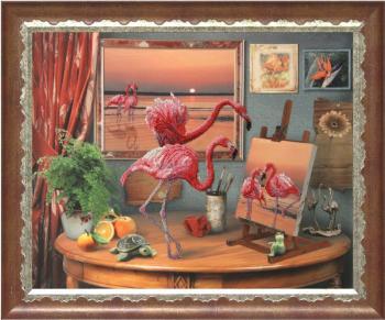 Фантазии моря картина из бисера