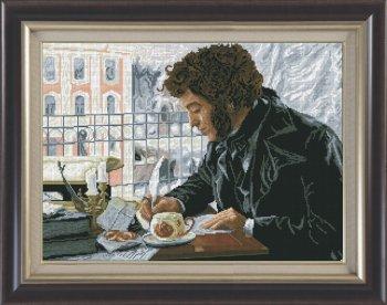 Люблю тебя,Петра творенье...вышивка крестом