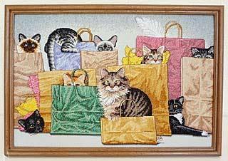 Кошки в сумочках