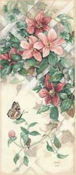 Бабочки и клематисы