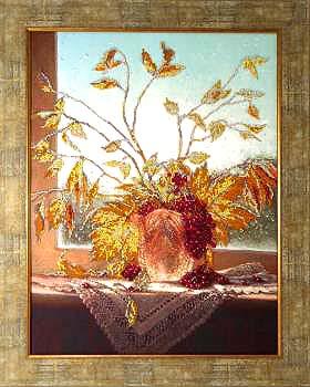 Цвета осени вышивка бисером