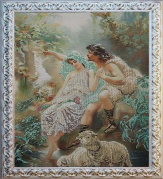 Аллегорическая сцена вышивка бисером