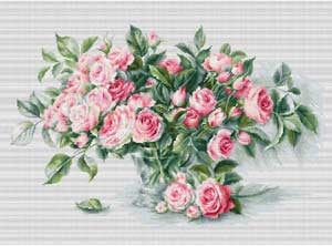 Схемы вышивки крестиком цветов бесплатно: розы, маки, орхидеи 83
