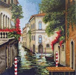 Вышивка крестом Венеция в цветах