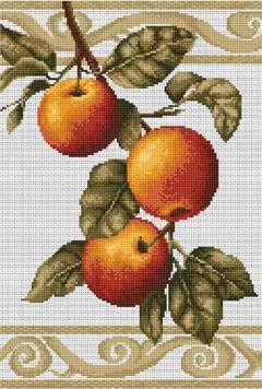 Вышивка крестом Ветка яблони
