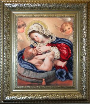 Кормящая Мадонна вышивка бисером