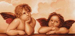 Вышивка крестом Ангелочки