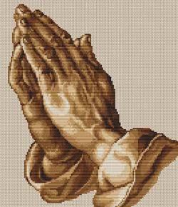 Вышивка крестом Молящие руки