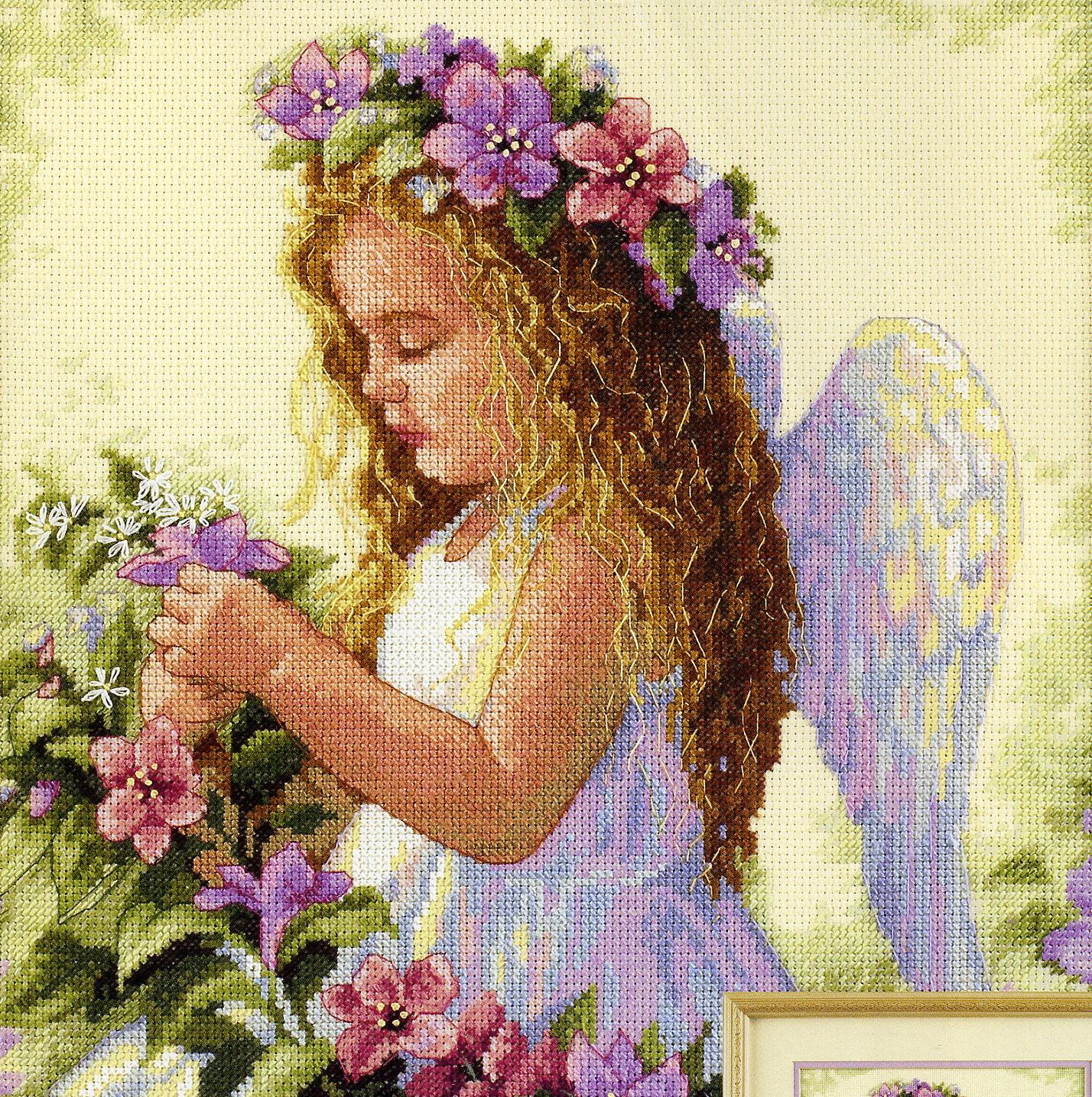 Схемы вышивки картины ангела