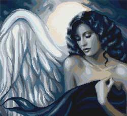 Вышивка крестом Соблазнительный ангел