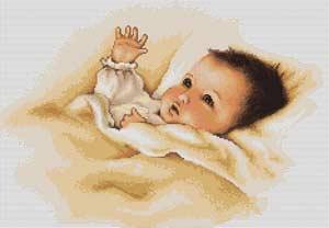 Вышивка крестом Дитя