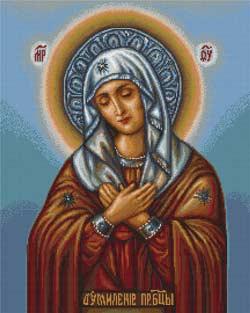 Вышивка икона Умиление Богородицы