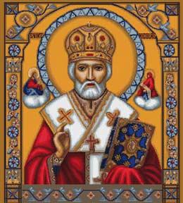 Вышивка крестом Святой Николай