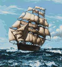 Вышивка крестом Корабль