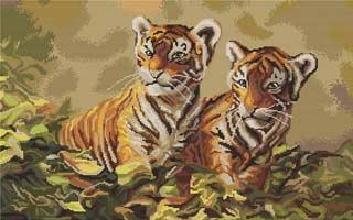 Вышивка крестом Тигрята