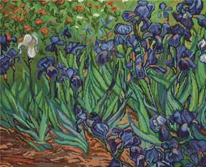 Ирис (Ван Гог) вышивка крестом