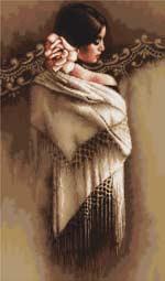 Вышивка крестом Испанка с платком