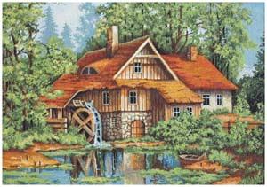 Мельница в лесу