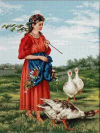 Девочка с гусями-Маковский