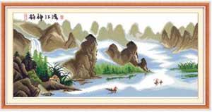 В горах Японии - вышивка крестом