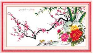 Сакура и розы