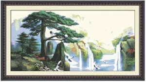 Японский водопад - вышивка крестом