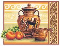 Греческие вазы - набор для вышивки крестом