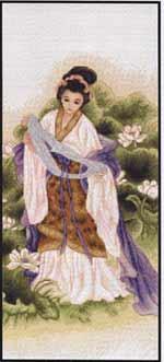 Японка (Любовь) вышивка крестом