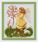 Вышивка крестом Молящийся ангелочек
