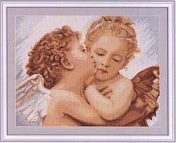 Вышивка крестом Первый поцелуй - деталь