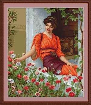 Летние цветы вышивка крестом