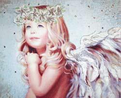 Ангел с лилиями