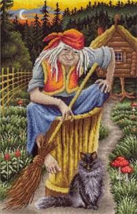 -- Баба-Яга - набор для вышивки крестом