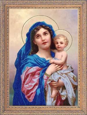 Мадонна с младенцем набор вышивки бисером