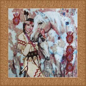 Индианка набор вышивки бисером