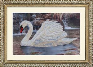 Лебедь набор вышивки бисером