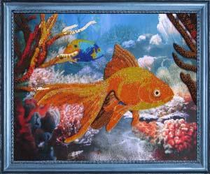 Рыбка набор вышивки бисером