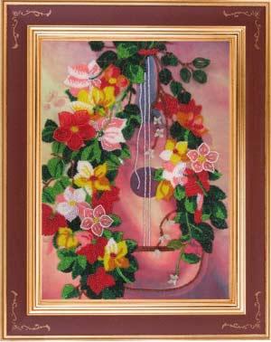Гитара набор вышивки бисером