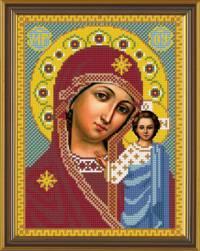 Вышивка бисером Казанская Богородица