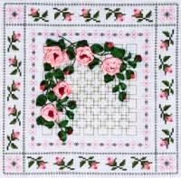 Вышивка лентами - Плетистая роза