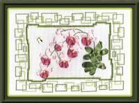 Вышивка лентами - Розовая орхидея