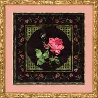 Вышивка лентами - Нежная роза