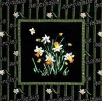 Вышивка лентами - Нарциссы