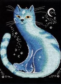 Набор для вышивки крестом - Лунный кот