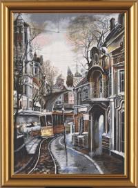 Вышивка крестом Трамвайный путь
