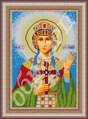 Икона святой александры вышивка