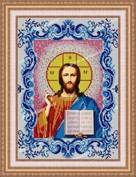 --Икона Иисус Христос в рамке